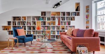 مدل کتابخانه کلاسیک (دیواری، چوبی، جادار، فانتزی) جدید 2021